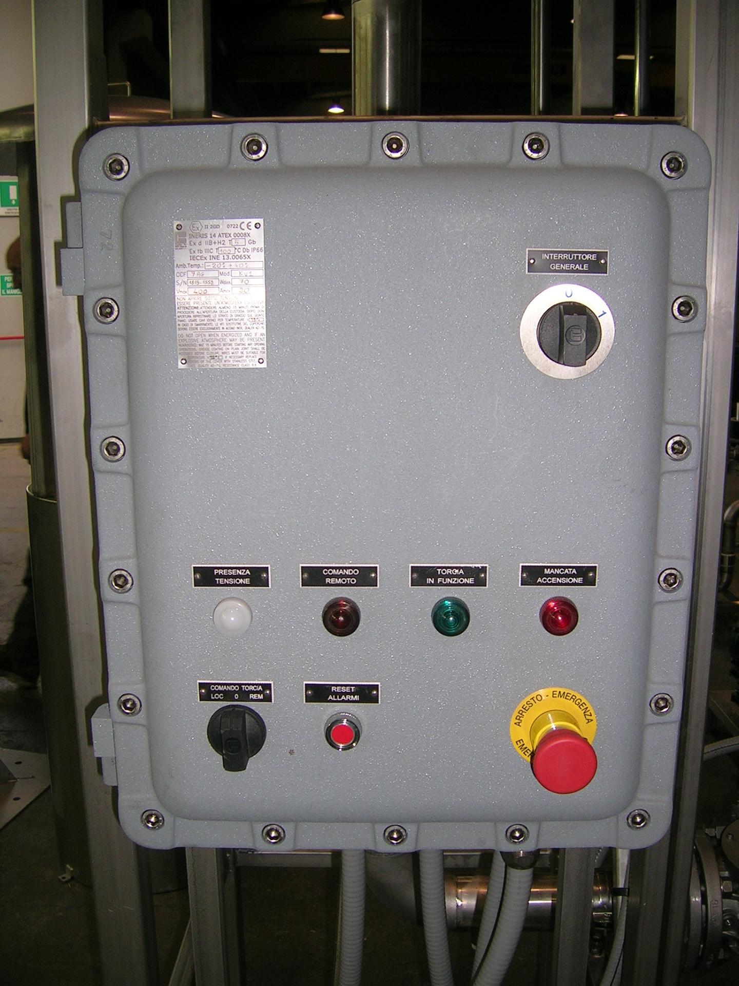 Emr Advanced Biogas Combustion Flare Enclosed Circuit Breaker Enclosure Adv Semi Stacks