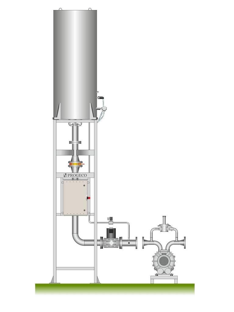 Torcia combustione biogas EMR ADVANCED